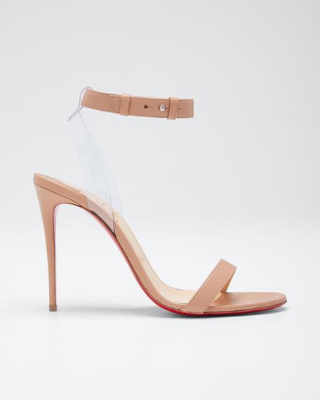 d35e640bc1b Christian Louboutin Jonatina Illusion Ankle-Strap Red Sole Sandals