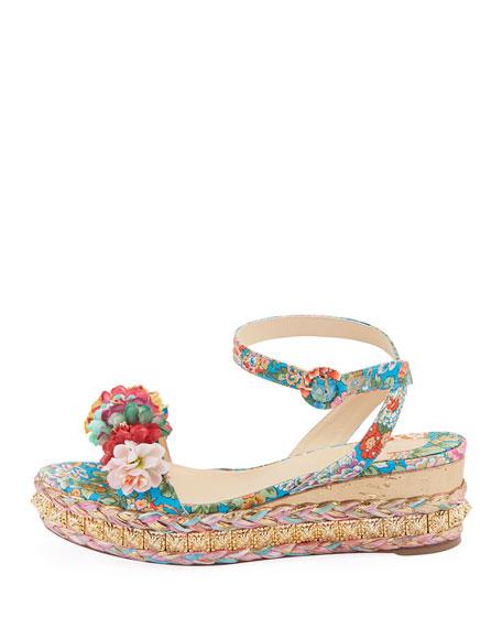 Ariella Printed Red Sole Sandals