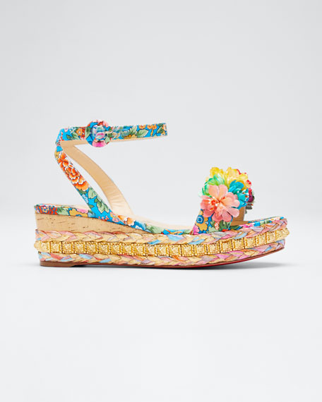 Christian Louboutin Ariella Printed Red Sole Sandals