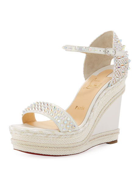 Christian Louboutin Madmonica Spike Red Sole Wedge Sandals
