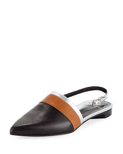 Alpha Mixed Slingback Loafers