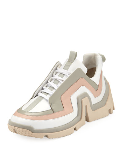 Vibe Mixed Leather Sneakers