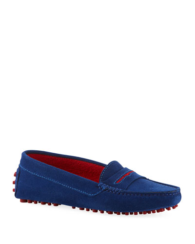 6b41c2a7ae8a Suede Flat Slip-On Drivers Quick Look. Manolo Blahnik