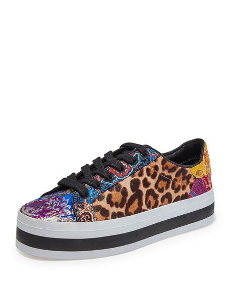 306e3abdfbaa Alice + Olivia Ezra Leopard-Print Platform Sneakers