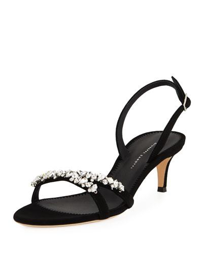 Rhinestone Slingback Sandals