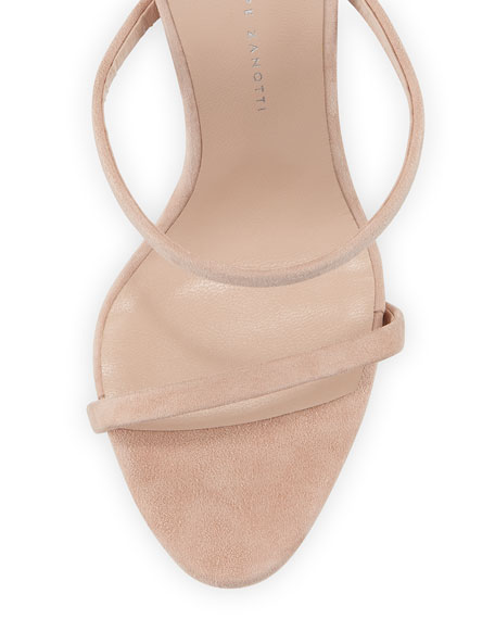 Suede Three-Strap 110mm Sandals