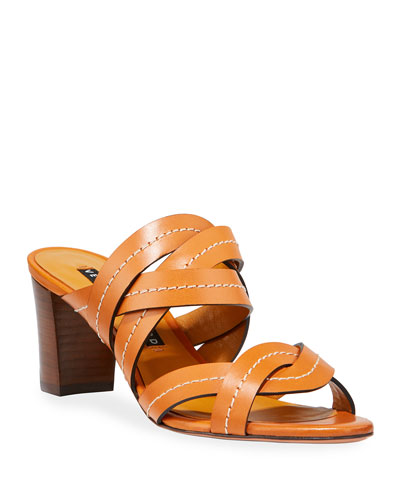 63d1d5b1e91 Designer Heel Sandals   Block Heel   T-Strap Sandals at Bergdorf Goodman