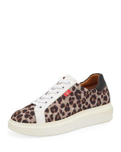 Daelyn Leopard-Print Platform Sneakers