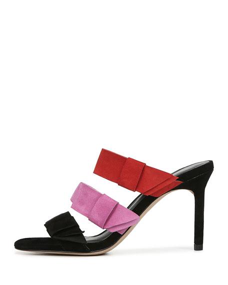 Amari Colorblock Suede Sandals