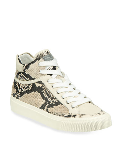 Army Printed Leather High-Top Sneakers