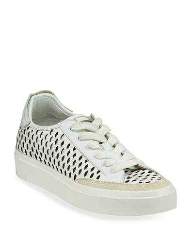 Army Cutout Leather Low-Top Sneakers