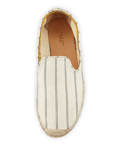 Del Rey Striped Slip-On Espadrilles