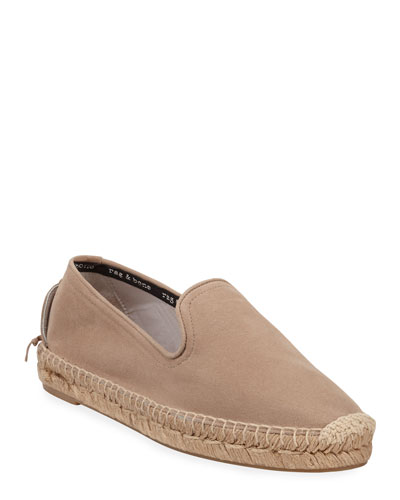 Del Rey Slip-On Leather Espadrilles
