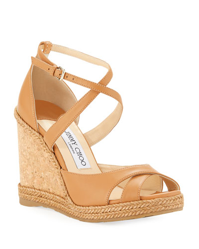 Alanah Leather Wedge Sandals