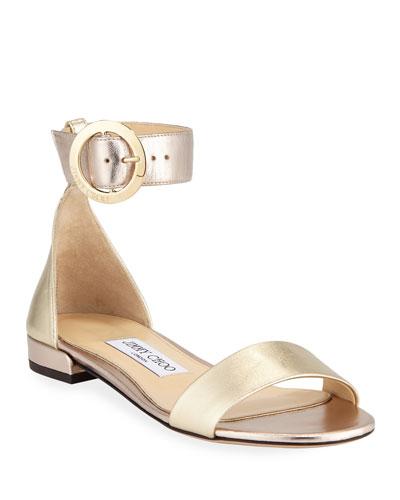 Jaimie Flat Metallic Sandals