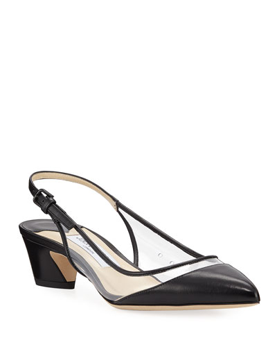 Gemma Clear-Sided Slingback Pumps
