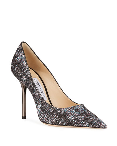 Love Boucle Pointed Pumps