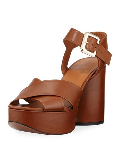 Vianne Leather Platform Sandals