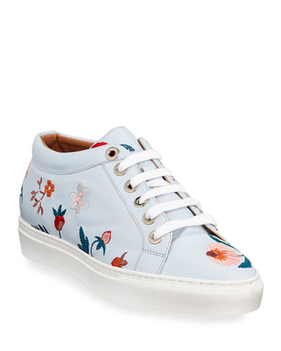 Totie Herbarium Embroidered Sneakers
