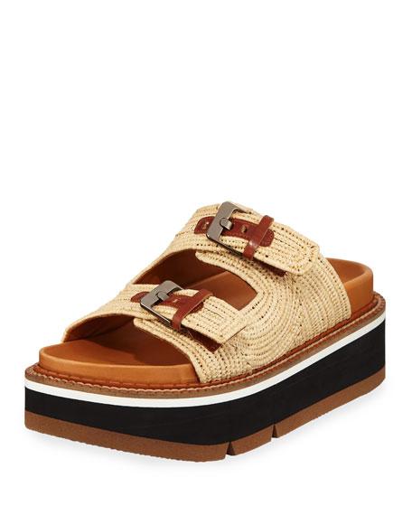 Aix Raffia Platform Sandals