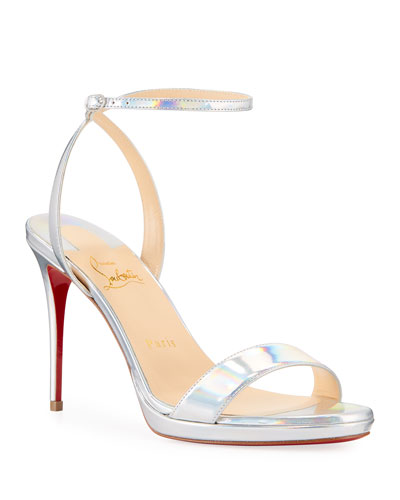2eb6e57d9c3 Loubi Queen Laser Red Sole Holographic Sandals Quick Look. Christian  Louboutin