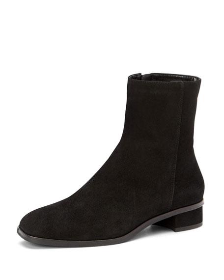 Aquatalia Low heels LUCIE SUEDE BOOTIES