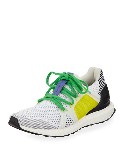 UltraBoost Colorblock Knit Sneakers  White/Yellow