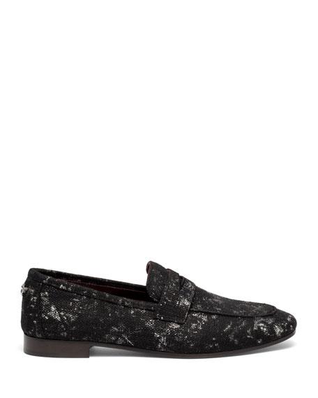 Splash Tweed Flat Loafers