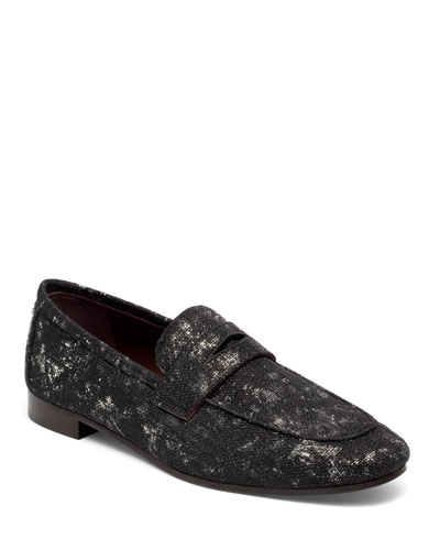 Splash Tweed Flat Loafers