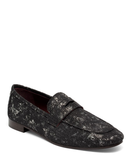 Bougeotte Splash Tweed Flat Loafers