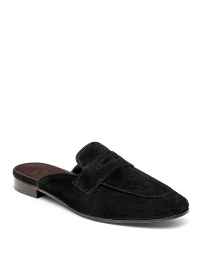 Calf Suede Slipper Mules