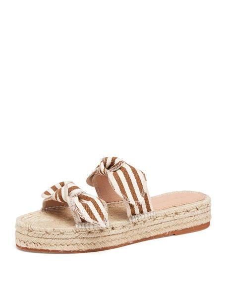 Loeffler Randall Daisy Espadrille Platform Slide Sandals