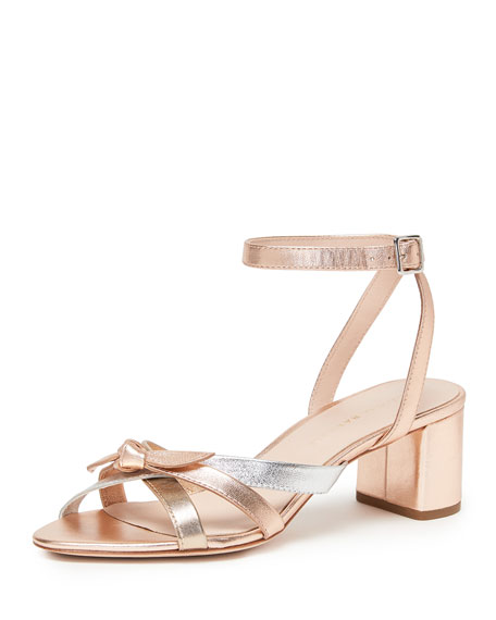 Loeffler Randall Anny Delicate Strappy Metallic Leather Sandals