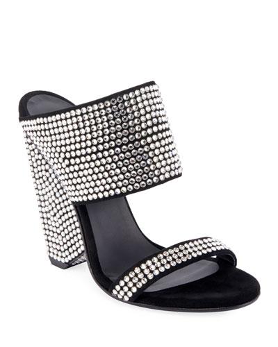 Lory Crystal-Embellished Sandals