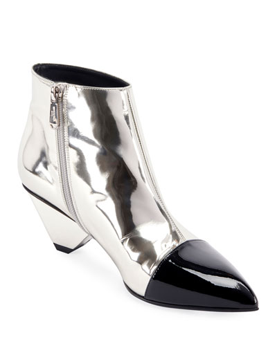 Lucky Metallic Zip Boots