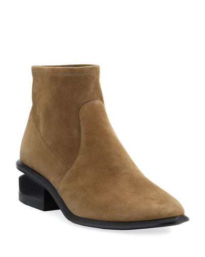 Kori Stretch Suede Ankle Booties