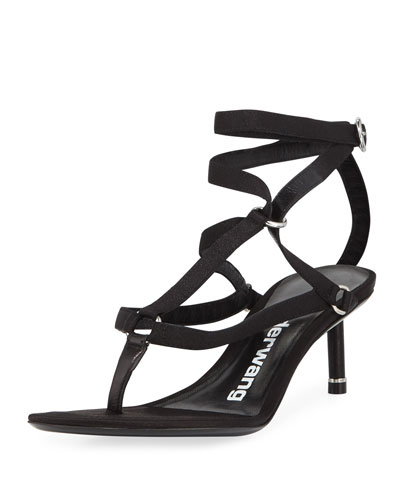 Kit Satin Harness Sandals