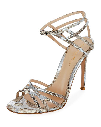 f624aed3809b Strappy Metallic Python Sandals Quick Look. Gianvito Rossi