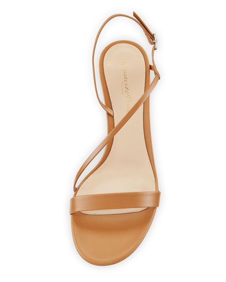 Strappy Leather Slingback Sandals