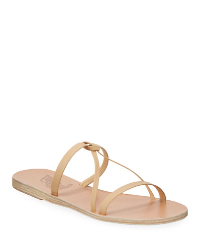 Spetses Flat Leather Knot Sandals