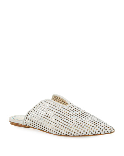 Casey Perforated Leather Mules