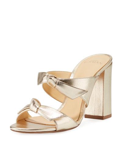 Nolita Metallic Knotted Slide Sandals