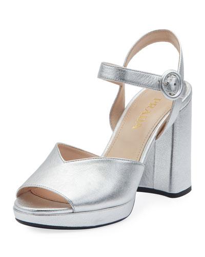 Metallic Platform 95mm Sandals