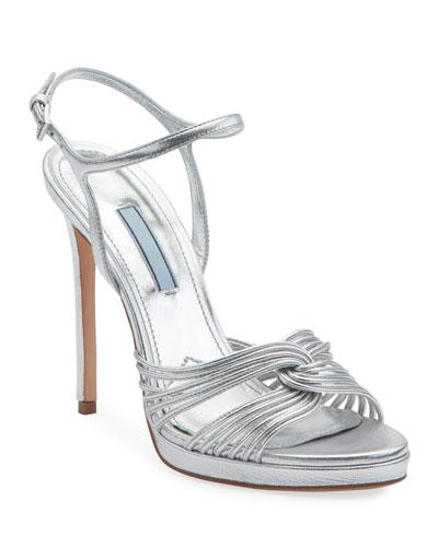 Metallic Platform 115mm Sandals