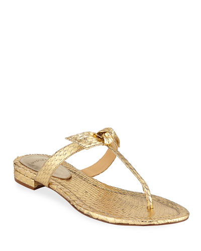 5c735e6e8 Gemma Knotted Metallic Flat Sandals.  295 · Clarita Naked Metallic Python Sandals  Quick Look