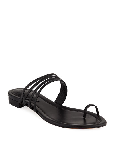 Strappy Flat Toe-Ring Sandals