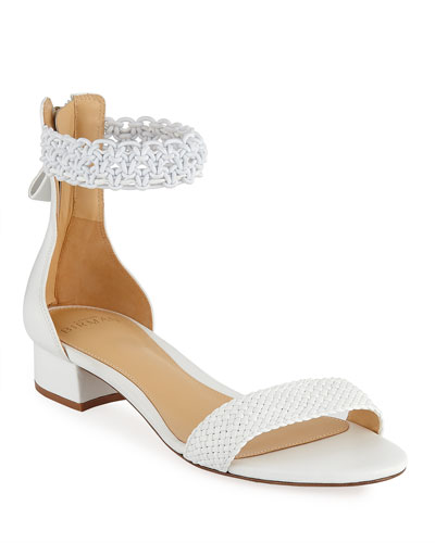Lanny Crocheted Ankle-Strap Sandals