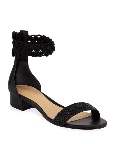 Alexandre Birman Lanny Crocheted Ankle-Strap Sandals