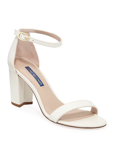 Nearlynude Textured Patent City Sandals