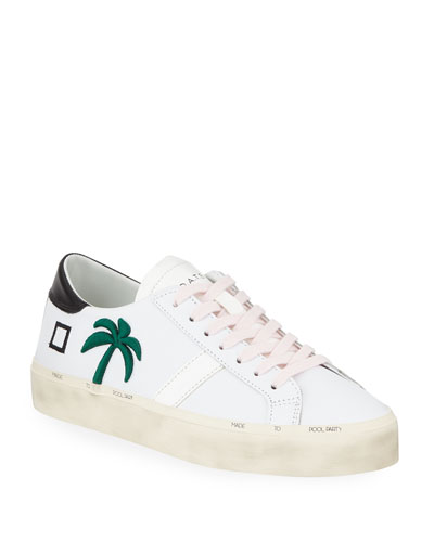 Hill Leather Palm Tree Sneakers